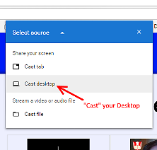 Select Desktop